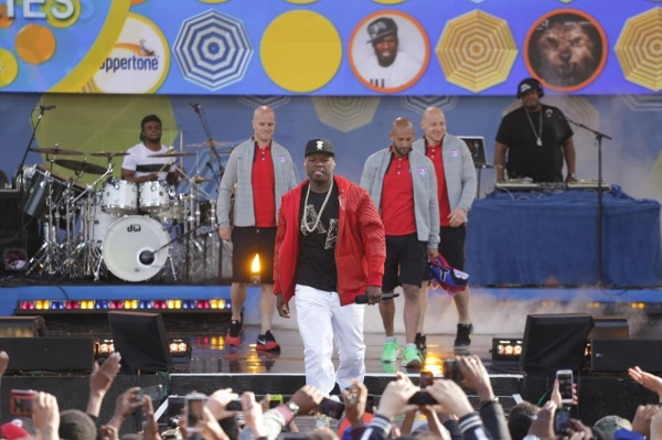 GOOD MORNING AMERICA - 50 Cent performs live at the GMA Summer Concert Series in Central Park. Captain Clint Dempsey and his teammates also preview the World Cup from Central Park on ''Good Morning America,'', 5/30/14, airing on the ABC Television Network
