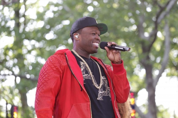 GOOD MORNING AMERICA - 50 Cent performs live at the GMA Summer Concert Series in Central Park on ''Good Morning America,'' 5/30/14, airing on the ABC Television Network.   (ABC/Fred Lee) 50 CENT