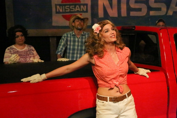 Taylor Pietz (in front) as Heather Stovall, singing ''If I Had This Truck,'' with Ann Photo
