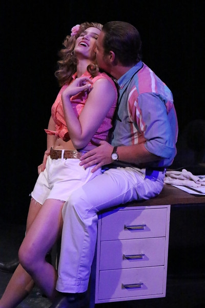 Taylor Pietz as Heather Stovall and Mike Dowdy as Mike Ferris Photo