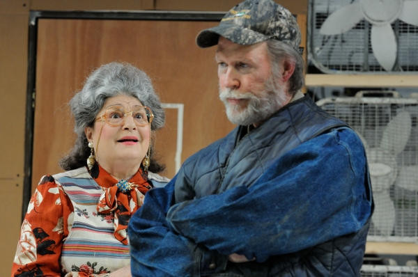 Trinity Rep resident acting company members Anne Scurria as Meg and Timothy Crowe as  Photo