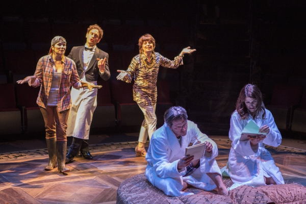 Heidi Blickenstaff as Jane, Eric William Morris as Jeff, Beth Leavel as Rhoda, Jon Patrick Walker as Andy, and Nicole Parker as Mags