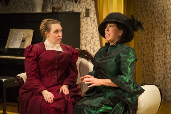 Allison Duvall as Catherine Givings and Lia Seltzer as Sabrina Daldry