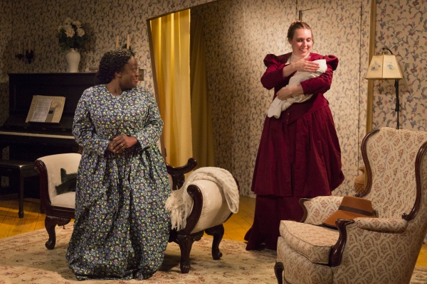 Rona Mensah as Elizabeth and Allison Duvall as Catherine Givings Photo