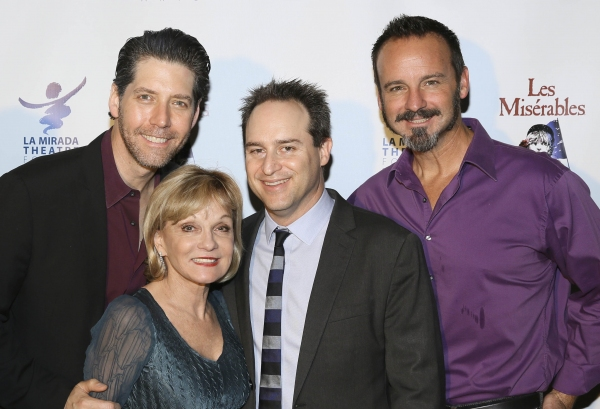 Cast member James Barbour, Executive Producer Cathy Rigby, Director Brian Kite and cast member Randall Dodge