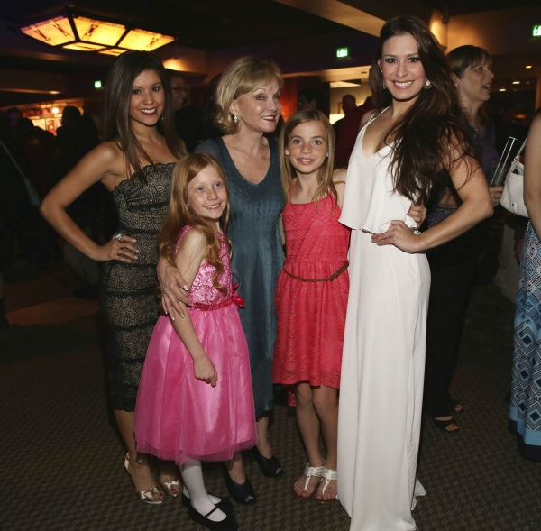 Cast members Valerie Rose Curiel, Emily LaFontaine, Executive Producer Cathy Rigby, c Photo