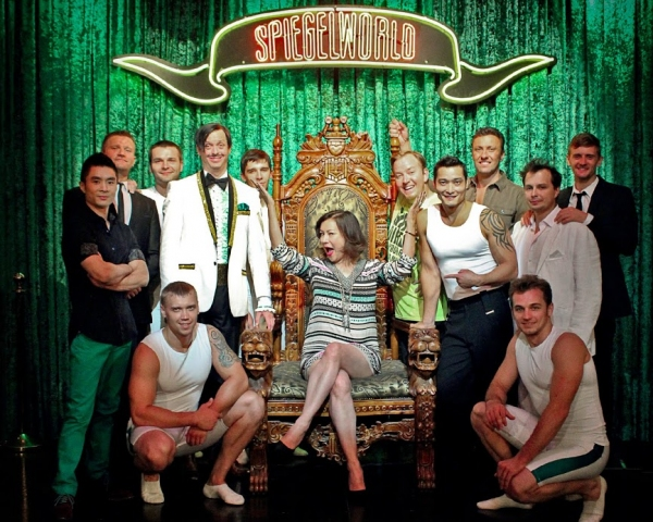 Actress Jennifer Tilly with the Cast of ABSINTHE at Caesars Palace