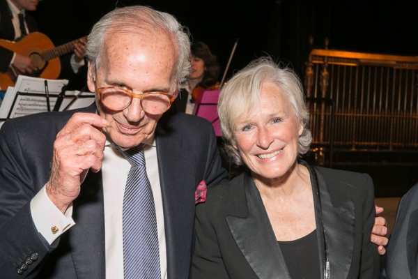 Lewis Lapham and Glenn Close