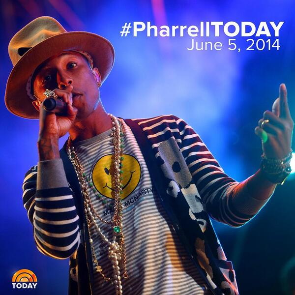 Pharrell Williams, Sara Bareilles Perform Live on NBC's TODAY