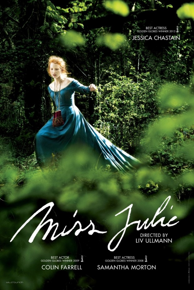 New Poster Unveiled For Jessica Chastain & Colin Farrell In Liv Ullmann's MISS JULIE