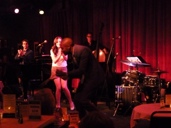 Bryan Carter and Hannah Elless off their instruments during ''Johnny One Note'' Photo