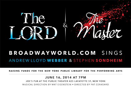 Poster Unveiled For THE LORD & THE MASTER: BROADWAYWORLD.COM SINGS ANDREW LLOYD WEBBER & STEPHEN SONDHEIM