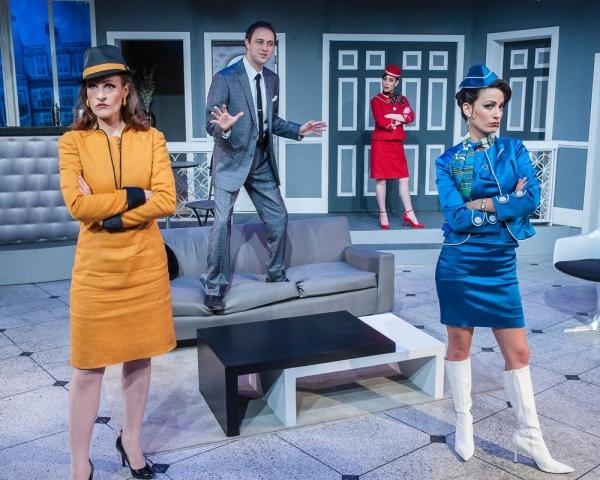 Leah Gabriel as Gretchen, Trent Fucci as Bernard, Tayler Beth Anderson as Gloria and  Photo