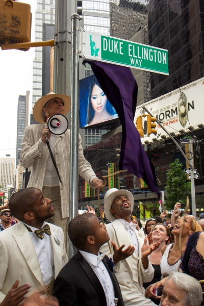 Photo Coverage: Cast of AFTER MIDNIGHT Celebrates Renaming of West 47th Street as 'Duke Ellington Way'