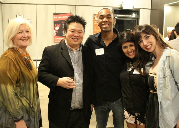 Dramaturg Sophie Cripe, director Oanh Nguyen and cast members Charles McCoy, Nohely Quiroz and Angeline Mirenda