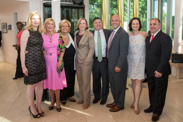 QT Managing Director Taryn Sacramone, Board Member Georgiana Reese-Benatti, Board Member Linda DeSabato, Queens Borough President Melinda Katz, Council Member Mark Weprin, Council Member Paul Vallone, Board President Frances A. Resheske, Board Member Mark
