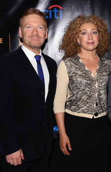 Kenneth Branagh and Alex Kingston
