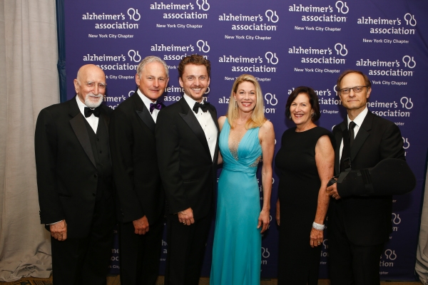 Dominic Chianese, Victor Garber, Jason Danieley, Marin Mazzie, Lou-Ellen Barkan (President and CEO of the Alzheimer's Association, New York City Chapter) and David Hyde Pierce