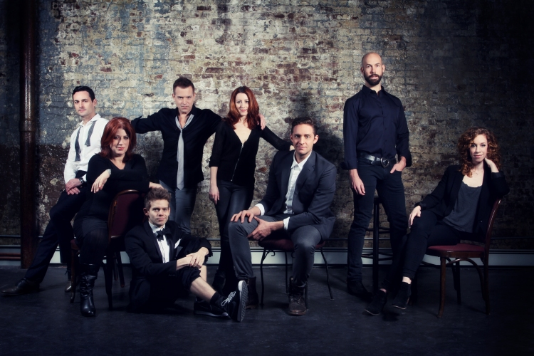High Res Max von Essen, Anne L. Nathan, Andrew Keenan-Bolger, Stephen Bienskie, Kate Wetherhead, Colin Hanlon, Wade McCollum, and Lindsay Nicole Chambers