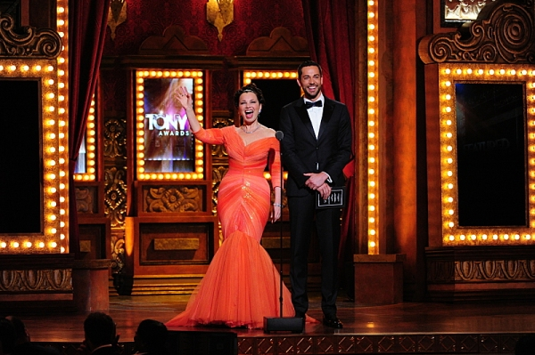 THE 68TH ANNUAL TONY AWARDS, broadcast live from Radio City Music Hall, Sunday, June 8 (8:00-11:00 PM, live ET/ delayed PT) on the CBS Television Network. Golden Globe and Tony Award-winning actor Hugh Jackman hosts. Pictured L-R: Fran Drescher and Zachar
