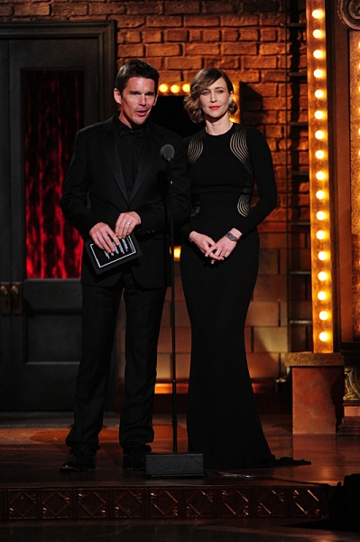 THE 68TH ANNUAL TONY AWARDS, broadcast live from Radio City Music Hall, Sunday, June 8 (8:00-11:00 PM, live ET/ delayed PT) on the CBS Television Network. Golden Globe and Tony Award-winning actor Hugh Jackman hosts. Pictured L-R: Ethan Hawke and Vera Far