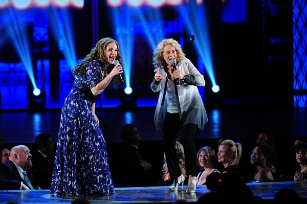 THE 68TH ANNUAL TONY AWARDS, broadcast live from Radio City Music Hall, Sunday, June 8 (8:00-11:00 PM, live ET/ delayed PT) on the CBS Television Network. Golden Globe and Tony Award-winning actor Hugh Jackman hosts. Pictured: Jessie Mueller and Carole Ki