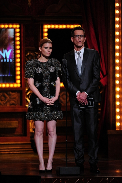 THE 68TH ANNUAL TONY AWARDS, broadcast live from Radio City Music Hall, Sunday, June 8 (8:00-11:00 PM, live ET/ delayed PT) on the CBS Television Network. Golden Globe and Tony Award-winning actor Hugh Jackman hosts. Pictured L-R: Kate Mara and Kevin Baco