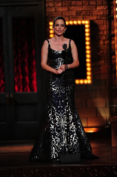 THE 68TH ANNUAL TONY AWARDS, broadcast live from Radio City Music Hall, Sunday, June 8 (8:00-11:00 PM, live ET/ delayed PT) on the CBS Television Network. Golden Globe and Tony Award-winning actor Hugh Jackman hosts. Pictured: Tina Fey Photo: Heather Wine