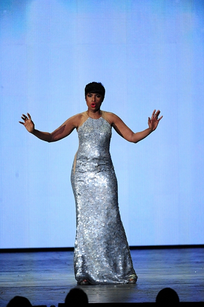 THE 68TH ANNUAL TONY AWARDS, broadcast live from Radio City Music Hall, Sunday, June 8 (8:00-11:00 PM, live ET/ delayed PT) on the CBS Television Network. Golden Globe and Tony Award-winning actor Hugh Jackman hosts. Pictured: Jennifer Hudson Photo: Heath