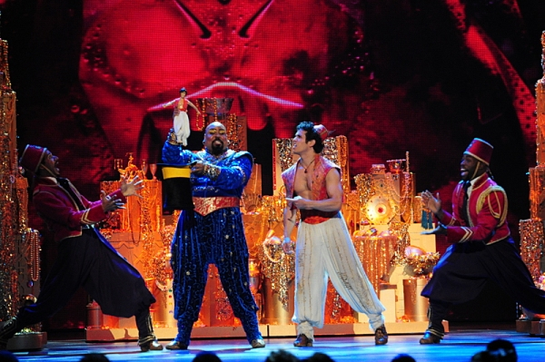 THE 68TH ANNUAL TONY AWARDS, broadcast live from Radio City Music Hall, Sunday, June 8 (8:00-11:00 PM, live ET/ delayed PT) on the CBS Television Network. Golden Globe and Tony Award-winning actor Hugh Jackman hosts. Pictured L-R: the cast of Aladdin and
