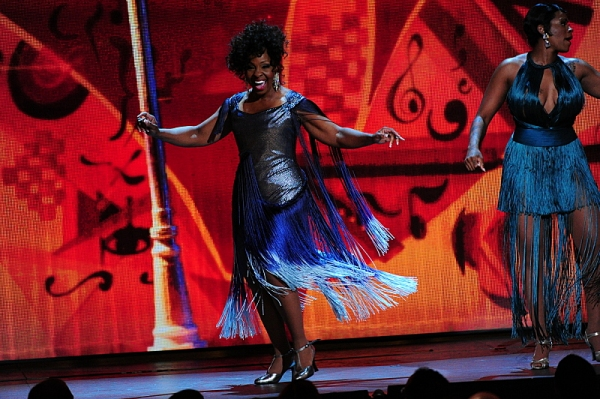 THE 68TH ANNUAL TONY AWARDS, broadcast live from Radio City Music Hall, Sunday, June 8 (8:00-11:00 PM, live ET/ delayed PT) on the CBS Television Network. Golden Globe and Tony Award-winning actor Hugh Jackman hosts. Pictured: Gladys Knight and Fantasia P