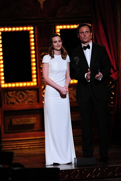 THE 68TH ANNUAL TONY AWARDS, broadcast live from Radio City Music Hall, Sunday, June 8 (8:00-11:00 PM, live ET/ delayed PT) on the CBS Television Network. Golden Globe and Tony Award-winning actor Hugh Jackman hosts. Pictured L-R: Leighton Meester and Ton