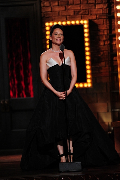 THE 68TH ANNUAL TONY AWARDS, broadcast live from Radio City Music Hall, Sunday, June 8 (8:00-11:00 PM, live ET/ delayed PT) on the CBS Television Network. Golden Globe and Tony Award-winning actor Hugh Jackman hosts. Pictured: Lucy Liu Photo: Heather Wine