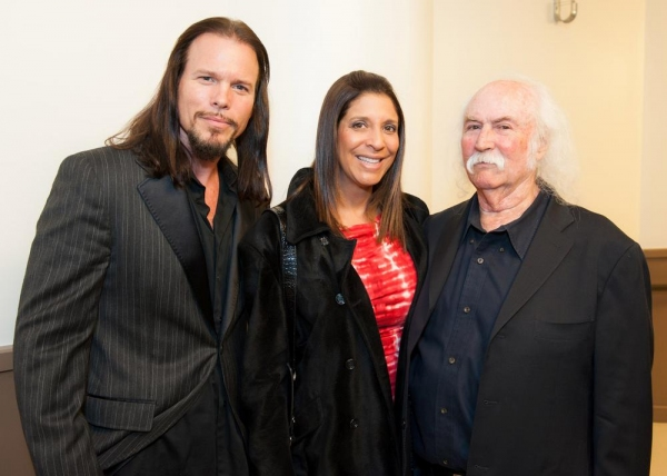 Backstage with Sean McNabb, Christine Devine and David Crosby Photo