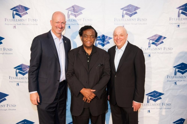Kenny Rogers (Fulfillment Fund CEO), Lamont Dozier (Honoree) and Charles Fox (Producer)