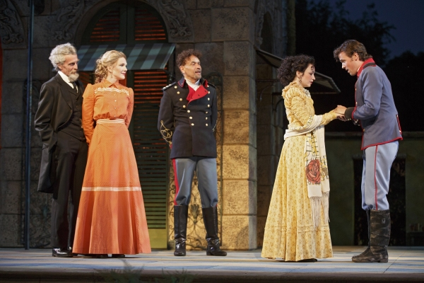 John Glover, Lily Rabe, Brian Stokes Mitchell, Ismenia Mendes, and Jack Cutmore-Scott
