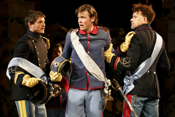 Pedro Pascal, Jack Cutmore-Scott, and Brian Stokes Mitchell