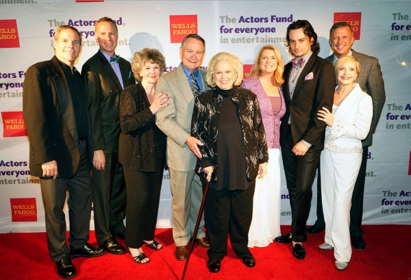 The LA Tony Party Production members Don Hill, Luke Yankee, JoMarie Ward, John Holly, Barbara Cook, Meg Thomas, Constantine Maroulis, Keith McNutt and Florence Henderson.