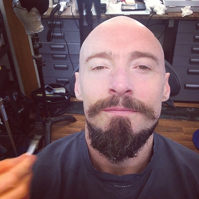First Look - Hugh Jackman Shaves His Head for PAN Role!