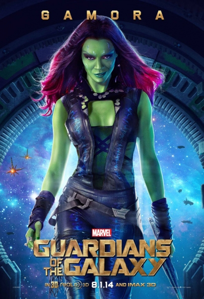 Photo Flash: Gamora Featured in GUARDIANS OF THE GALAXY Character Poster