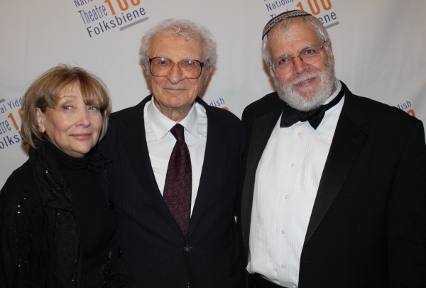 Bryna Wasserman, Sheldon Harnick and Zalmen Mlotek
