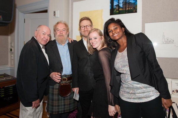 Jack O''Brien, Jimmy Yuill, Sir Kenneth Branagh, L. Michelle Palmour (Membership & Marketing Director for The Shakespeare Society), and Danai Pointer (Bloomberg consultant)