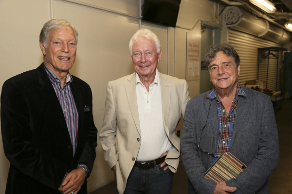 From left, actor Richard Chamberlain poses with cast members Phillip Craig and Richard O''Callaghan backstage after the opening night performance of ''The Last Confession'' at the Center Theatre Group/Ahmanson Theatre on Wednesday, June 11, 2014, in Los A