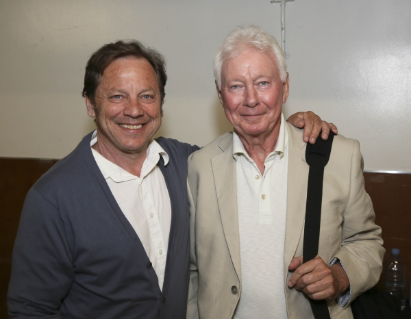 From left, cast members David Ferry and Philip Craig pose backstage after the opening night performance of ''The Last Confession'' at the Center Theatre Group/Ahmanson Theatre on Wednesday, June 11, 2014, in Los Angeles, Calif. (Photo by Ryan Miller/Captu