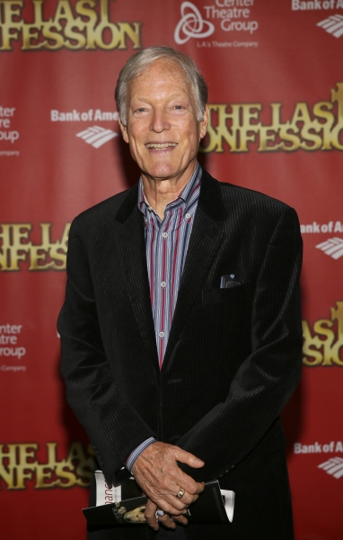 Actor Richard Chamberlain poses during the arrivals for the opening night performance of ''The Last Confession'' at the Center Theatre Group/Ahmanson Theatre on Wednesday, June 11, 2014, in Los Angeles, Calif. (Photo by Ryan Miller/Capture Imaging)