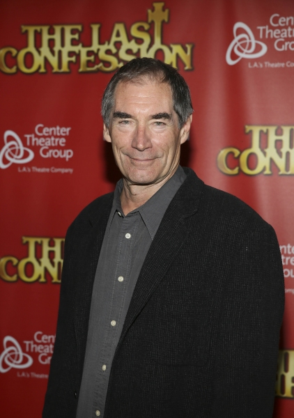 Actor Timothy Dalton poses during the arrivals for the opening night performance of ' Photo