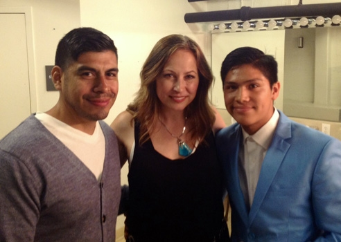 Cesar De Leon, Linda Eder and Johnny Ortiz