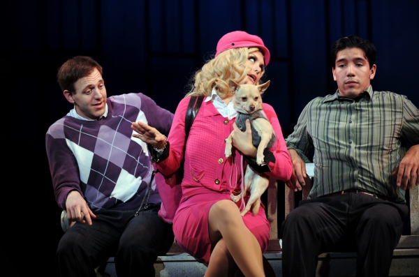 Jeff Kuhr as Aaron, Kathleen Elizabeth Monteleone as Elle, Chico as Bruiser and Danny Photo