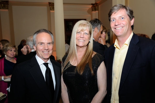 Trinity Rep Executive Director Michael Gennaro, Campaign Chair Suzanne Magaziner and Board Chair Jon Duffy