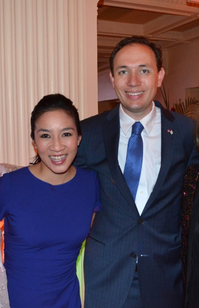 Michelle Kwan and Clay Pell  Photo